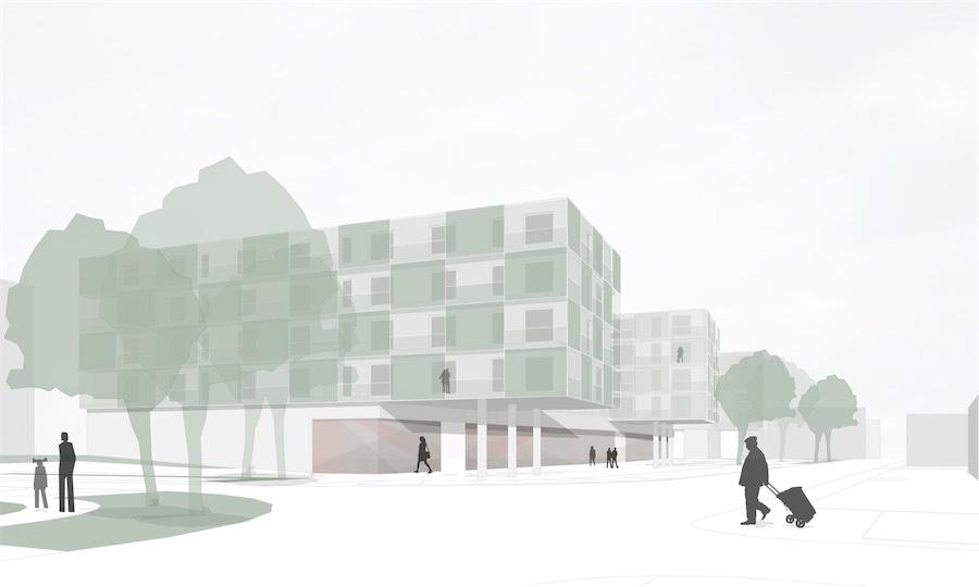 Wohn- und Geschäftshaus Weimar-Nord, Perspektive