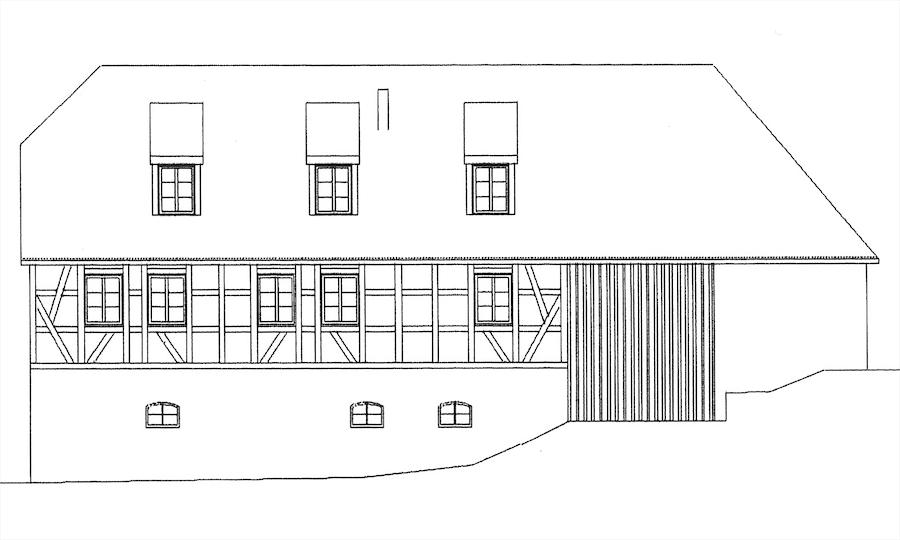 Mühle Taubach, Ansicht