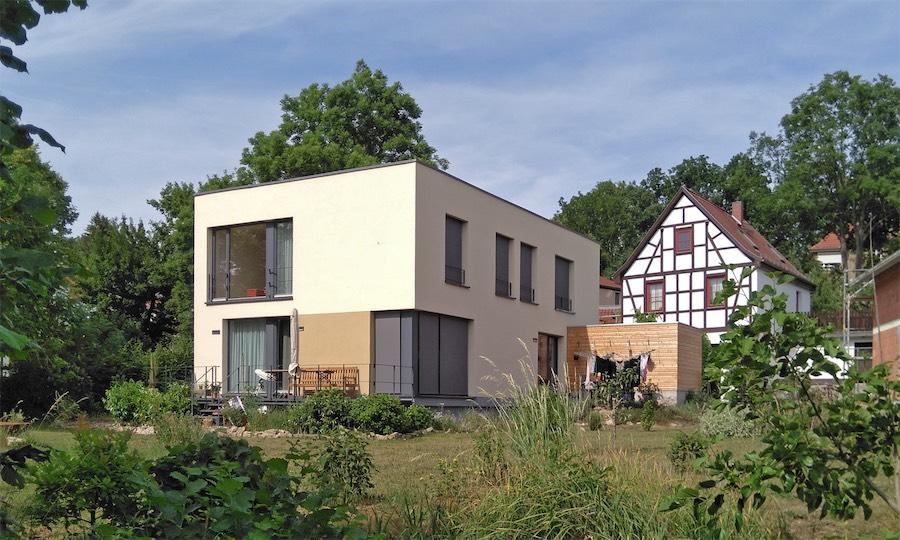 Zweifamilien-Passivhaus G, Weimar, 2014