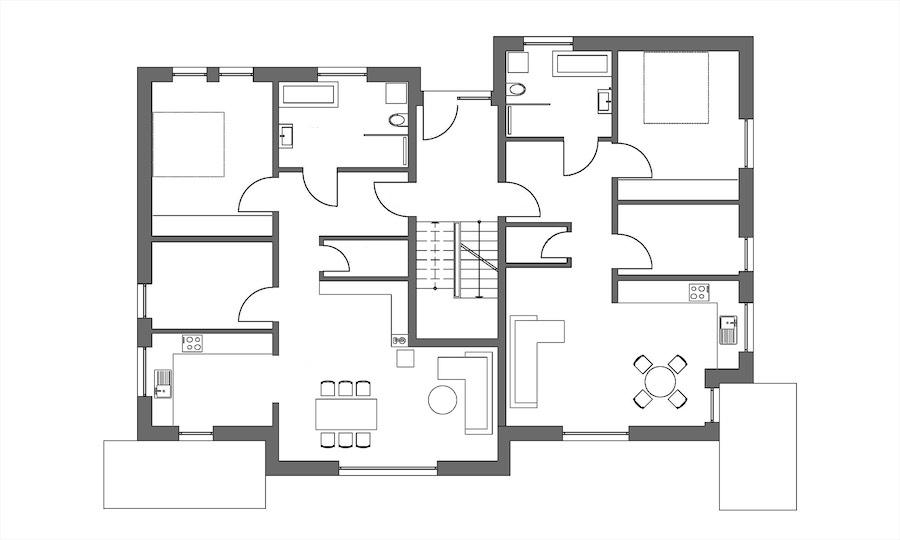 Vierfamilienhaus, Bad Berka, Grundriss