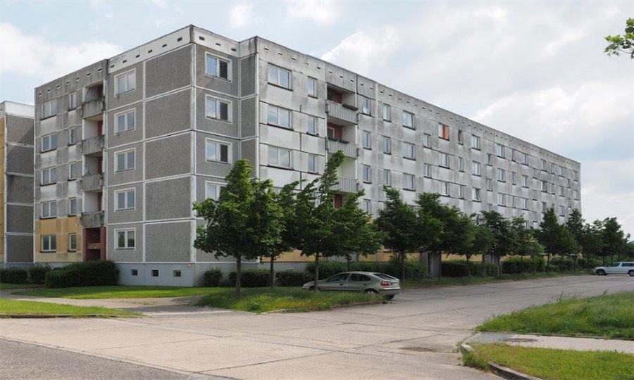 Plattenbausanierung, Schwerin-Krebsfördern, vorher